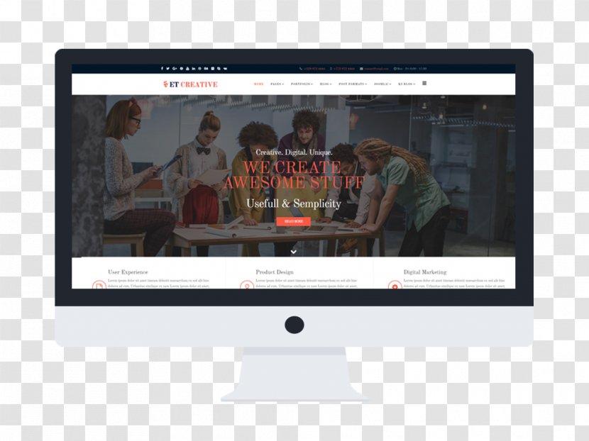Website Development Responsive Web Design Computer Monitors Wordpress Theme Display Device Transparent Png