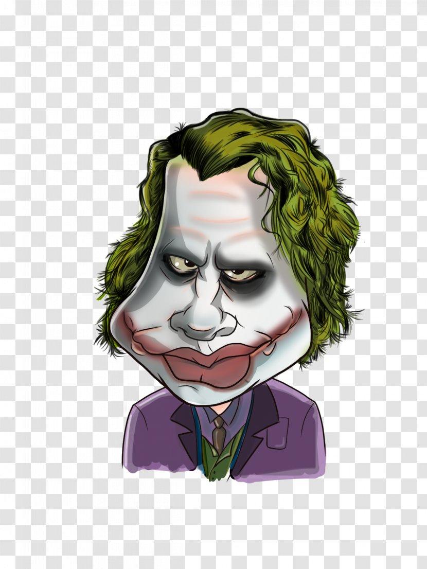 Joker Heath Ledger Caricature Cartoon Supervillain Transparent Png