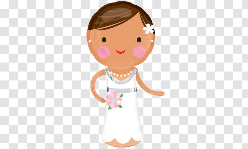 Mylar Balloon Bride Wedding Gas - Fictional Character Transparent PNG