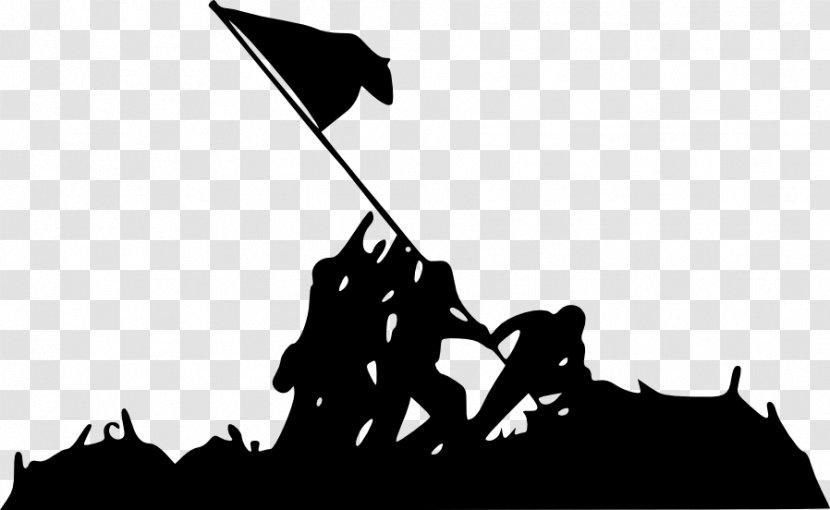 Marine Corps War Memorial Raising The Flag On Iwo Jima Battle Of Silhouette Transparent PNG