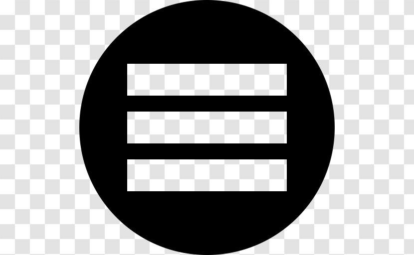 Hamburger Button Habitat For Humanity Navigation Bar Fast Food - Black And White - Cumulus Transparent PNG