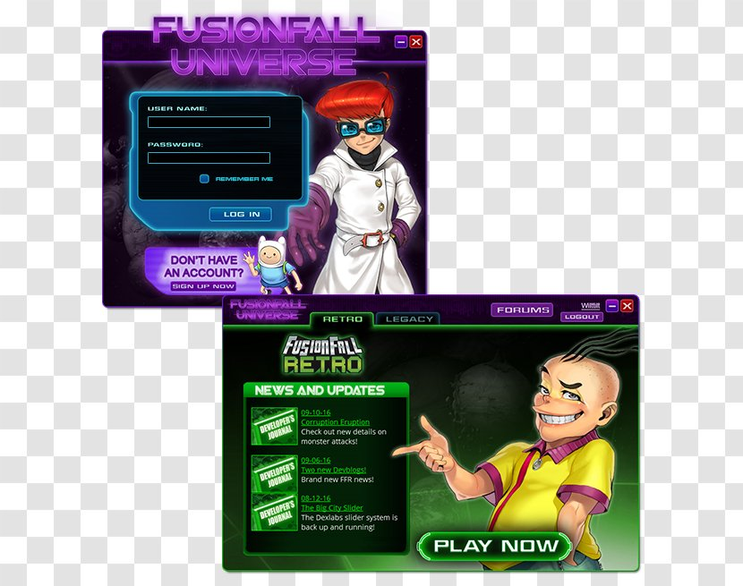 Cartoon Network Universe Fusionfall Action Toy Figures Advertising Video Game Launcher Transparent Png