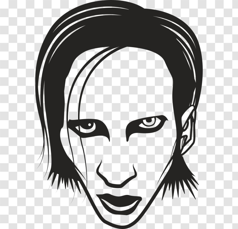 Marilyn Manson Musician Portrait Silhouette Actor Transparent Png