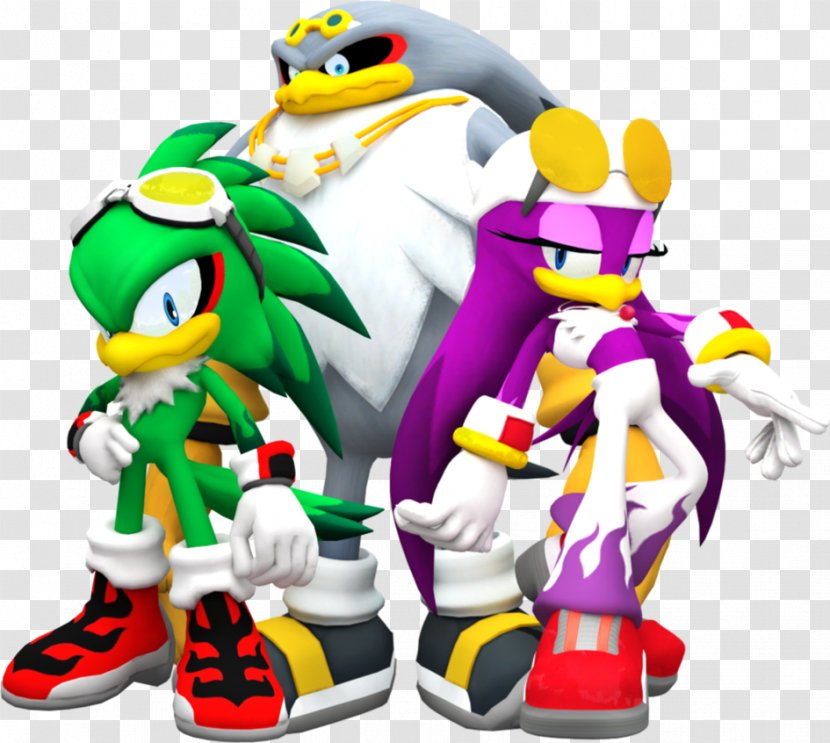 Sonic Riders Knuckles Chaotix The Hedgehog Espio Chameleon Vector Crocodile Doctor Eggman Team Transparent Png
