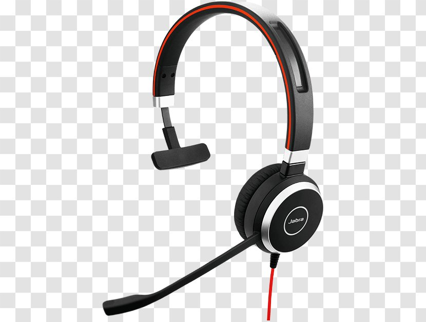 Jabra Evolve 40 65 Stereo Ms Mono Headset Ms Transparent Png