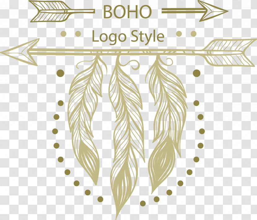 Feather Logo Euclidean Vector Flora Hanging On The Arrows Feathers Logo Transparent Png