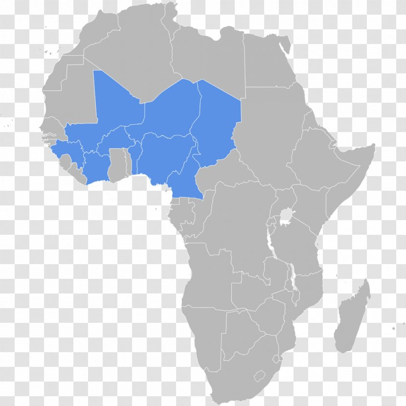 West Africa Blank Map World Transparent Png