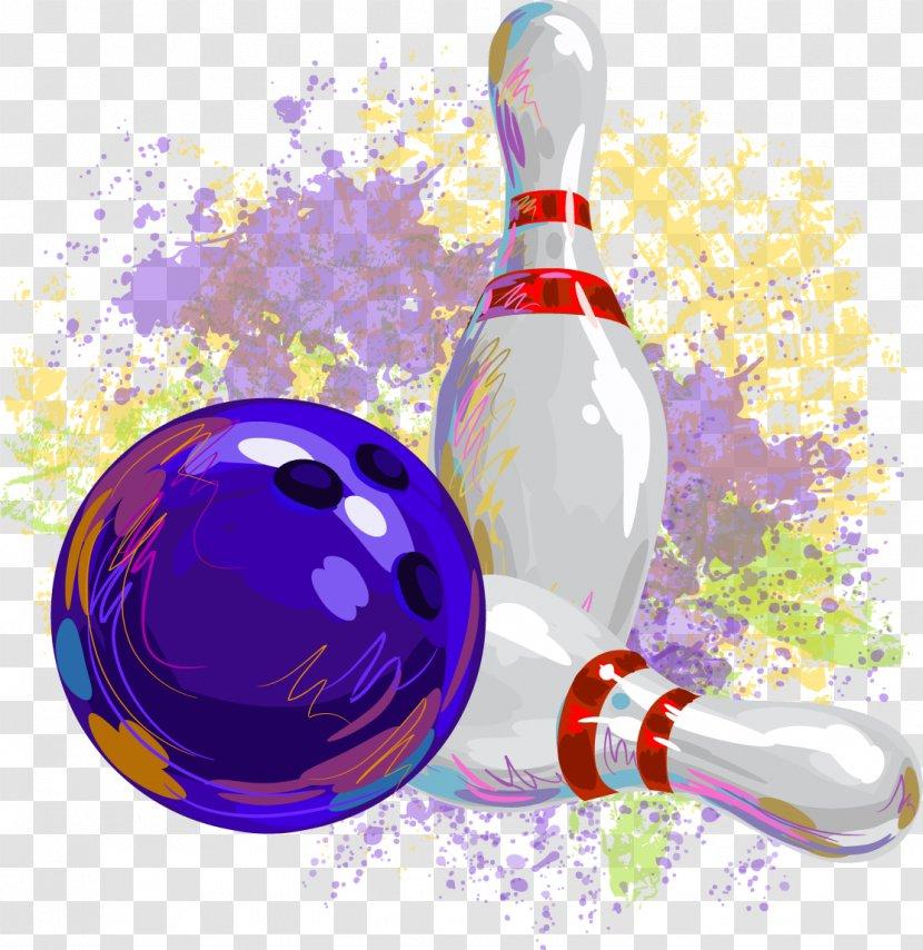 Ten-pin Bowling Pin Ball - Drinkware - Decorative Transparent PNG