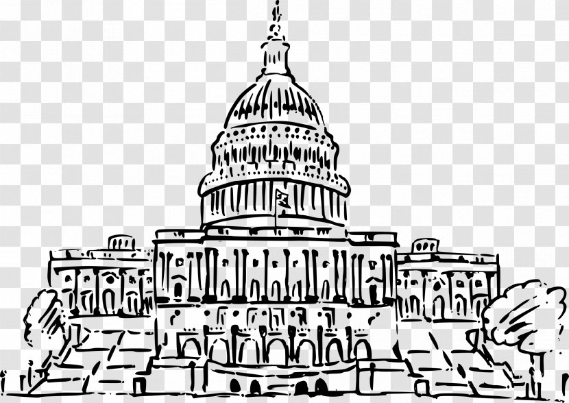 United States Capitol Congress Clip Art Drawing Government Transparent Png