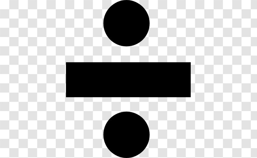 Obelus Long Division Mathematics Multiplication Sign - Point - Divide Transparent PNG