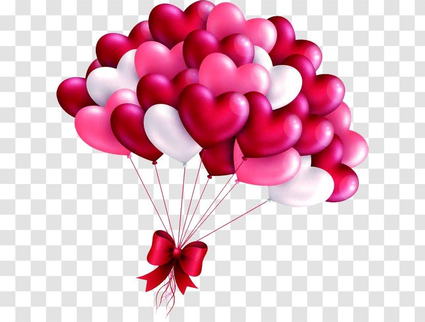 Valentine Love Heart Balloon Valentine's Day Picture Frame - S - Valentines Transparent PNG
