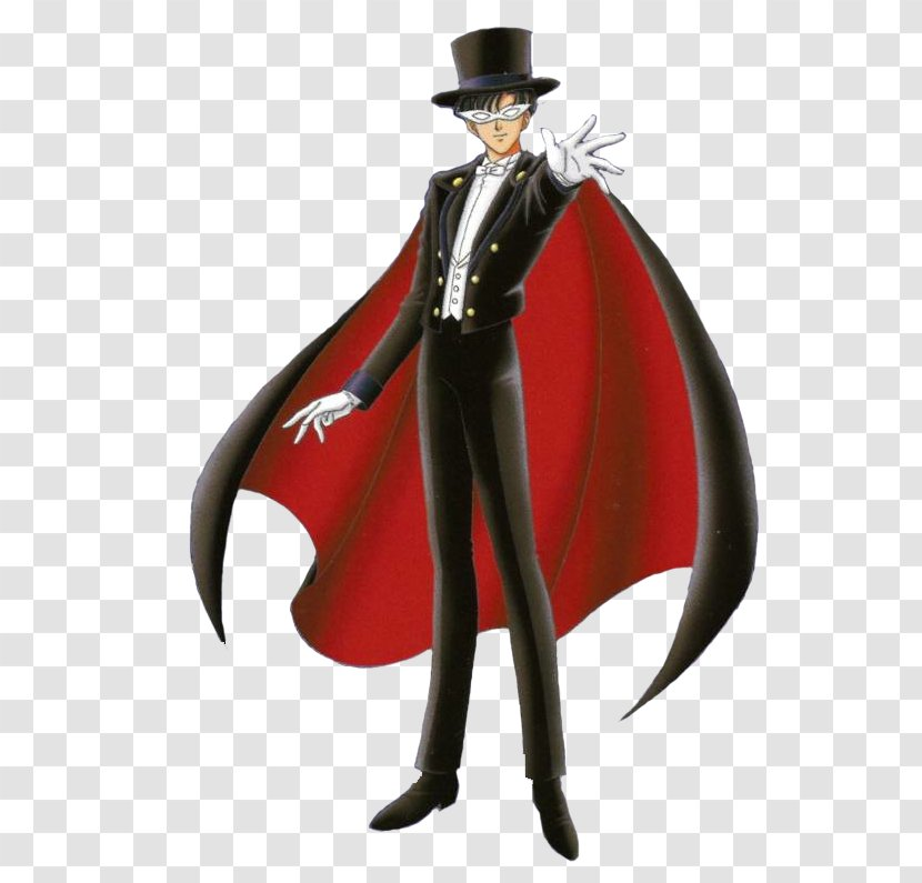 Tuxedo Mask Character Figurine Transparent PNG