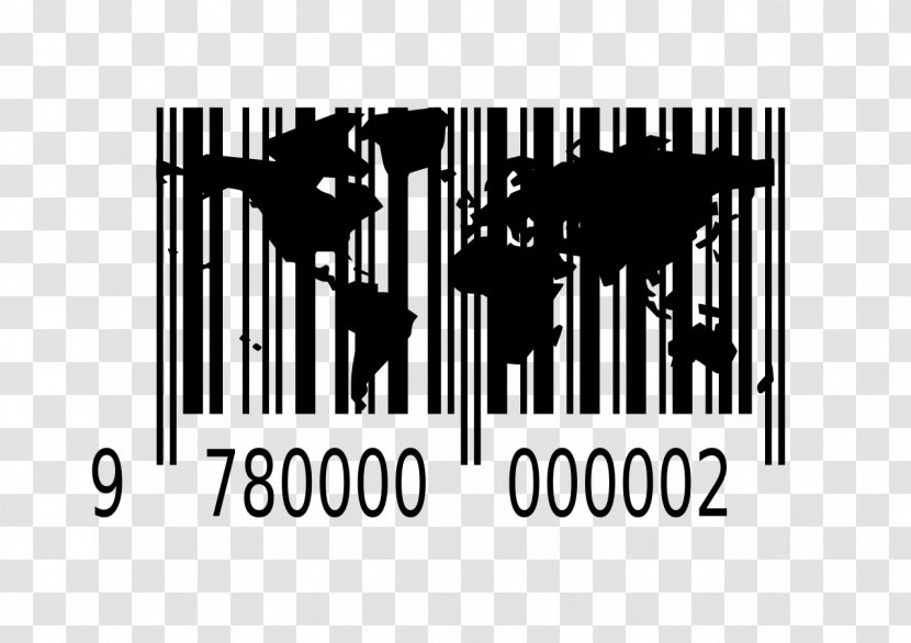 Barcode World EAN-8 International Article Number GS1-128 - Monochrome Photography - Black And White Transparent PNG