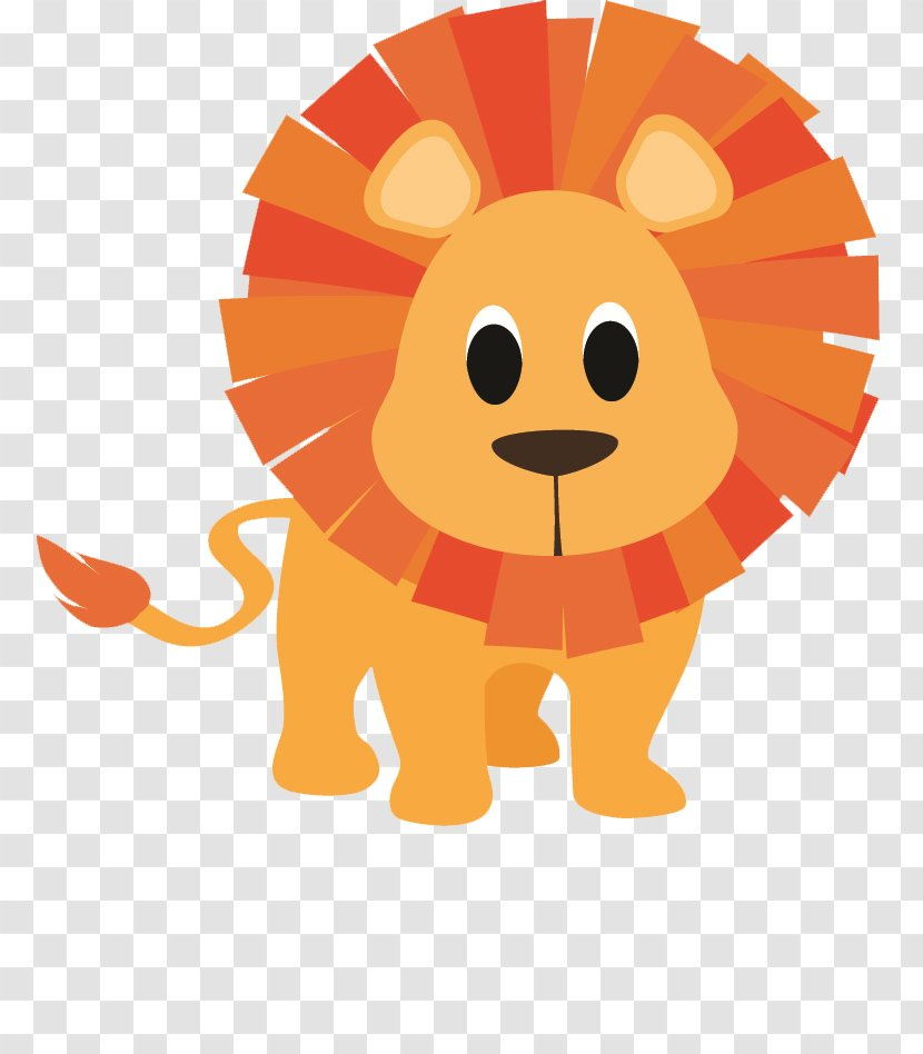 Baby Jungle Animals Lion Cartoon Drawing Clip Art - Cuteness Transparent PNG