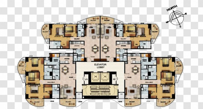 Floor Plan Condominium Lobby Townhouse Property Developer Upscale Residential Quarter Transparent Png