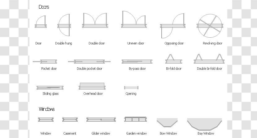Window Floor Plan Door Symbol Architecture Symbols Cliparts Transparent Png