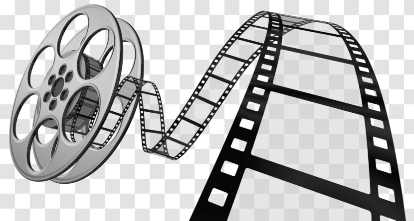 Film Reel Cinema Clip Art - Black And White - Outdoor Transparent PNG