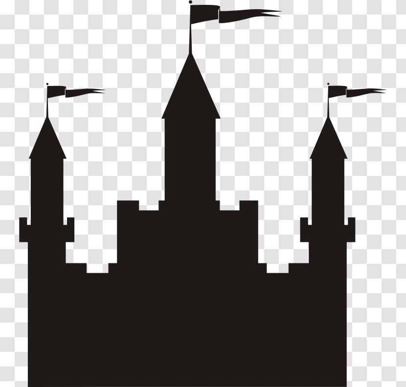 Castle Clip Art Black and White