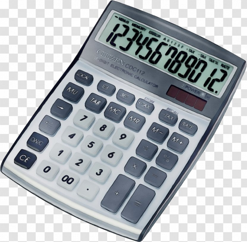 Calculator Office Equipment Numeric Keypad Technology Supplies Transparent PNG