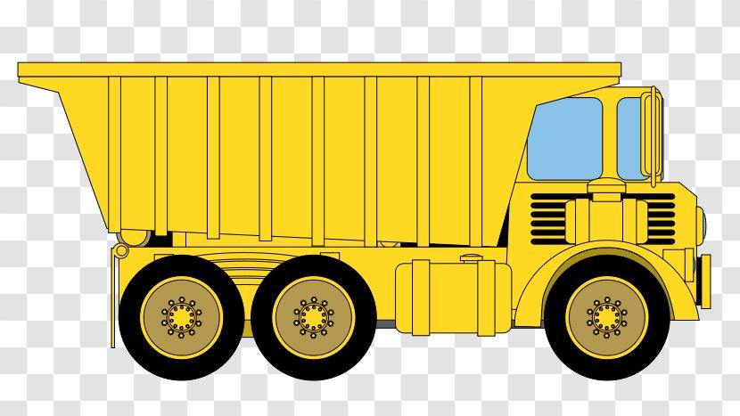 Dump Truck Car Clip Art - Box - Cartoon Transparent PNG