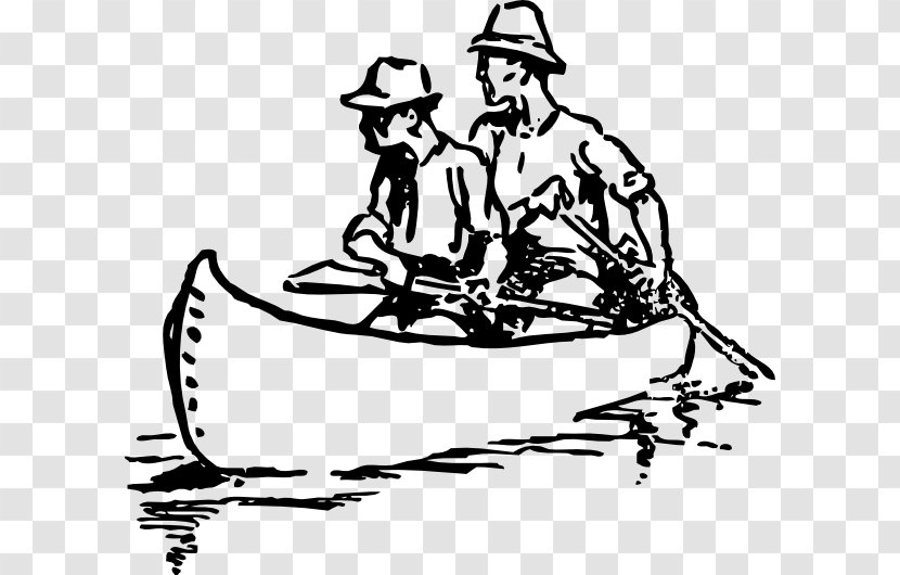 Canoe Drawing Rowing Clip Art Transparent PNG
