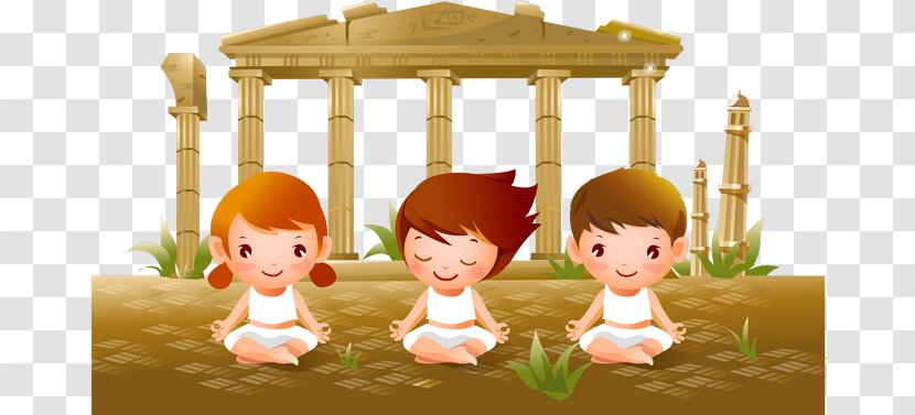 Yoga Child Cartoon Woman For Kids Transparent Png