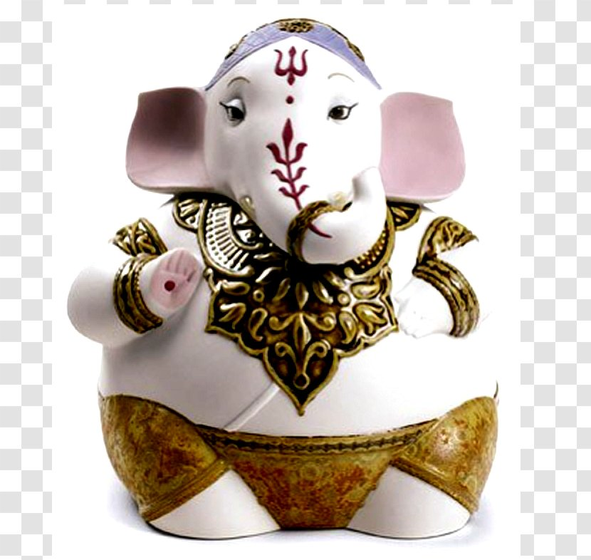 Ganesha Figurine Lladro Porcelain Statue Collectable Goddess Lakshmi Transparent Png Cause as per many hindus lakshmi the elephant is a living god, and she blessing me was something incredible and amazing. pnghut