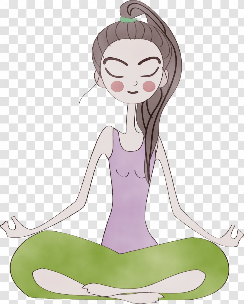 Cartoon Nose Meditation Physical Fitness Sitting Watercolor Fictional Character Yoga Transparent Png