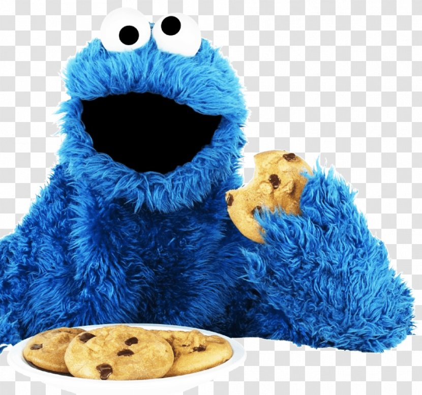 Cookie Monster Chocolate Chip Biscuits - Plush Transparent PNG