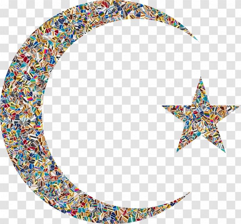 Moon Star And Crescent Clip Art - Eid Transparent PNG