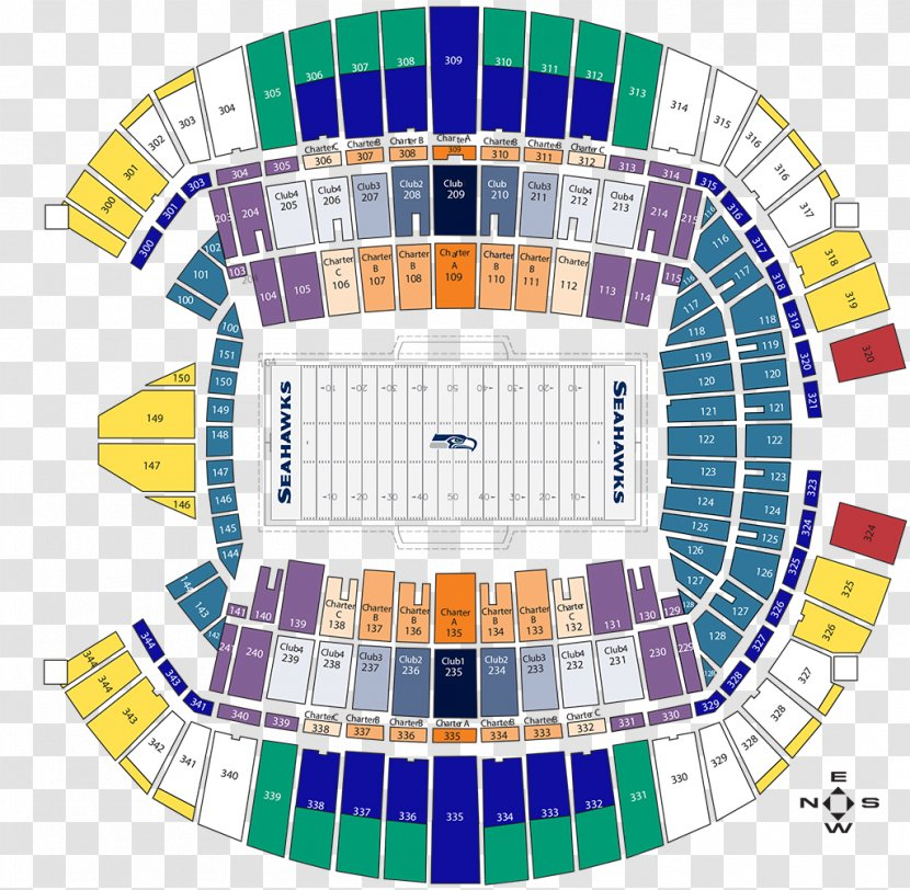 Centurylink Field 2018 Seattle Seahawks Season Aircraft Seat Map Centurylink Stadium Floor Transparent Png