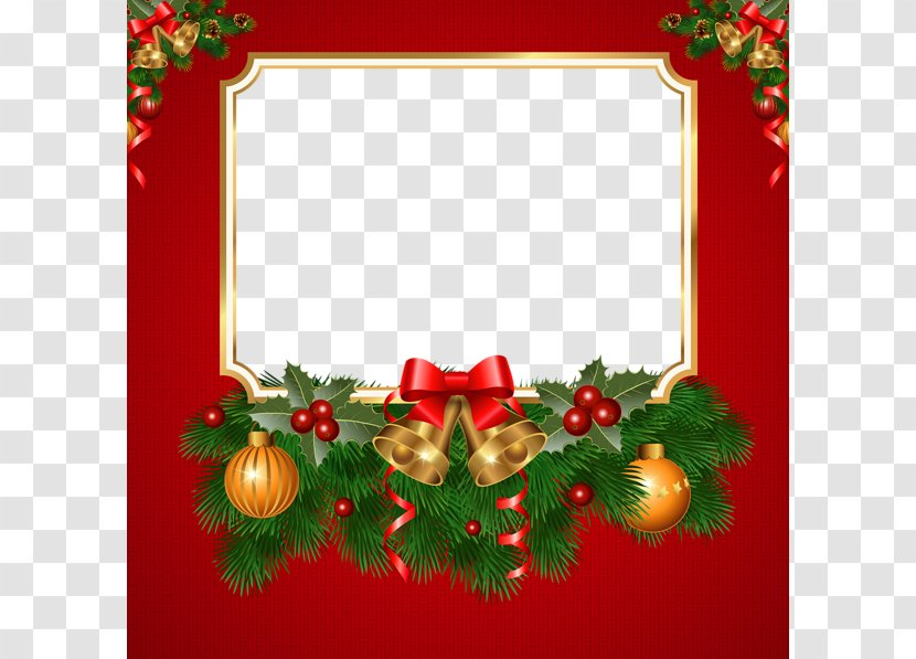 Christmas Greeting Card Border Fir Borders And Frames Transparent Png