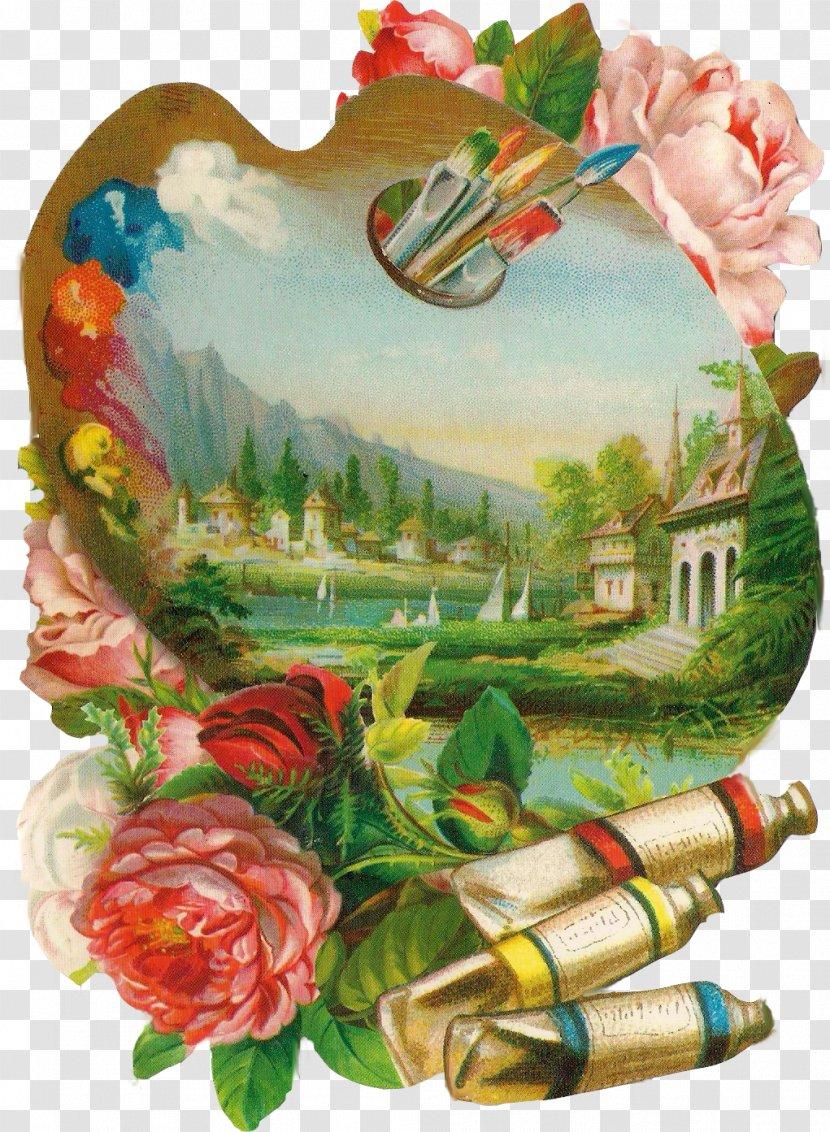 Painting Palette Art - Vintage Transparent PNG