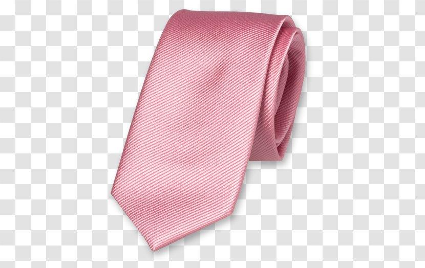 Necktie Bow Tie Braces Pink Silk - Button Transparent PNG