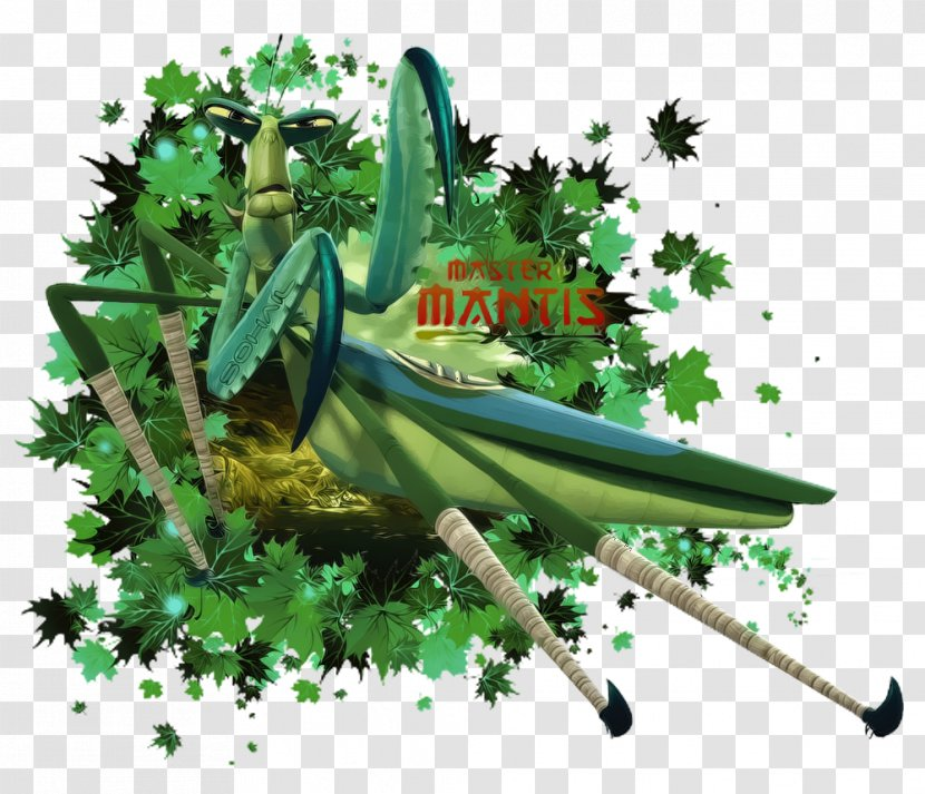 Mantis Master Shifu Po Monkey Oogway - Plant Transparent PNG