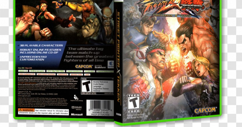 Street Fighter X Tekken 6 Xbox 360 Marvel Vs Capcom 3 Fate Of