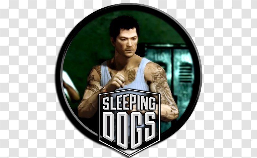 Sleeping Dogs Facial Hair Logo Brand Square Enix Europe - Dog Lying Transparent PNG