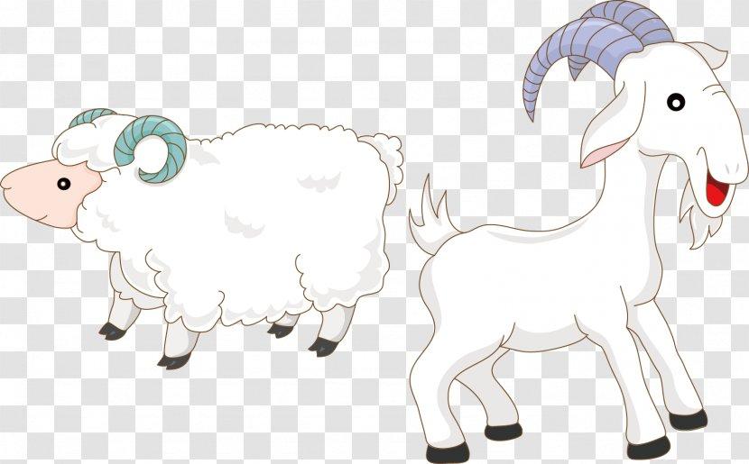 Goat Sheep Drawing Goats And Cartoon Vector Material Transparent Png