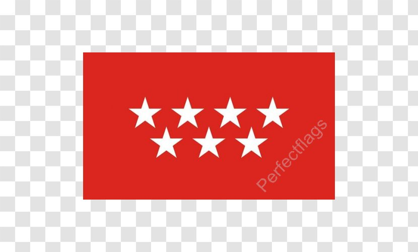 Flag Of The Community Madrid Spain City Area Spanish Transparent Png