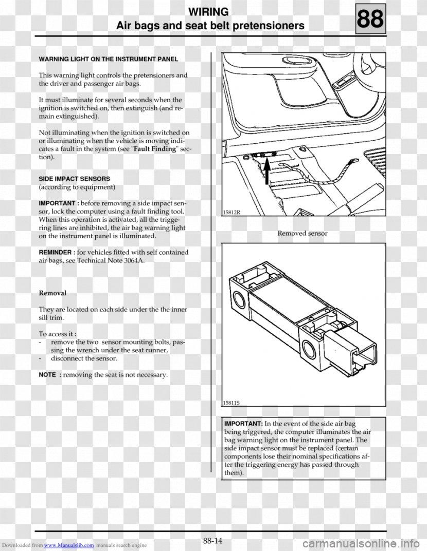 Renault Clio Seat Airbag Wiring Diagram