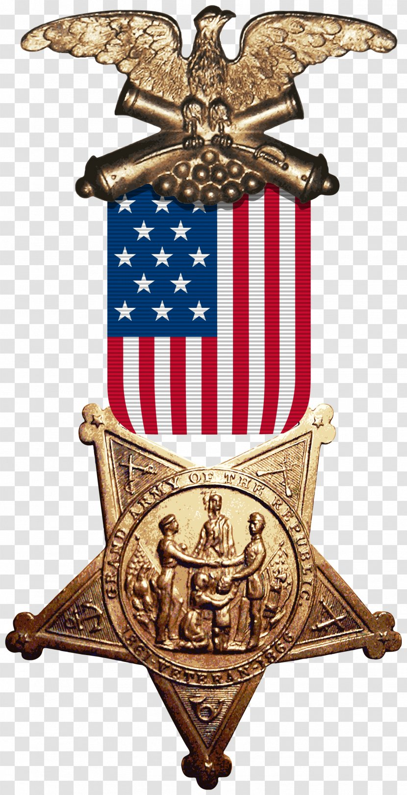United States Revenue Cutter Service American Civil War Grand Army Of The Republic Medal - Navy Transparent PNG