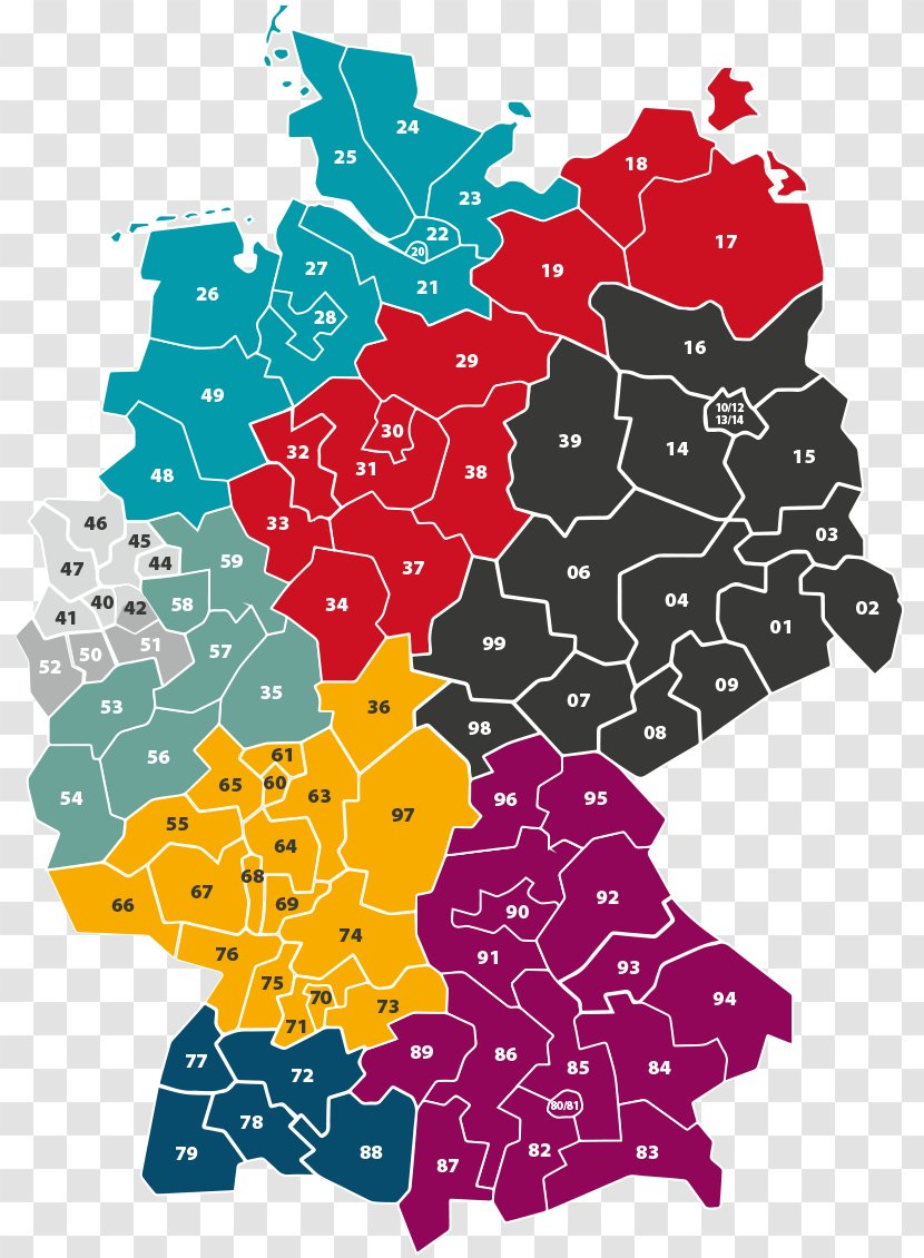 German Reunification West Germany East Berlin Map Transparent Png