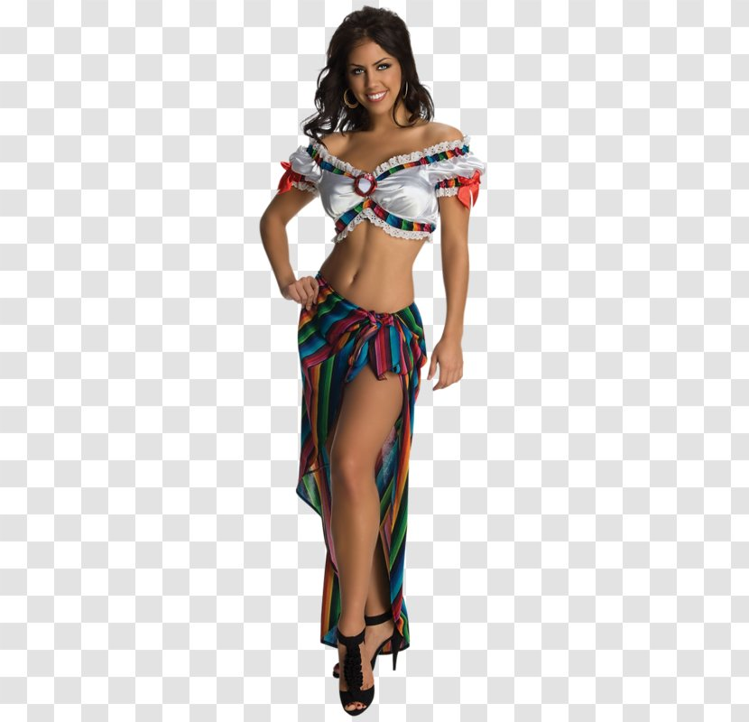 Mexican Cuisine Taco Costume Party Woman - Heart Transparent PNG
