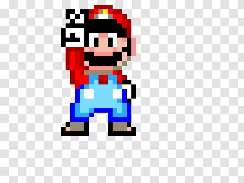 Super Mario Bros World Luigi Text Pixel Art Transparent Png