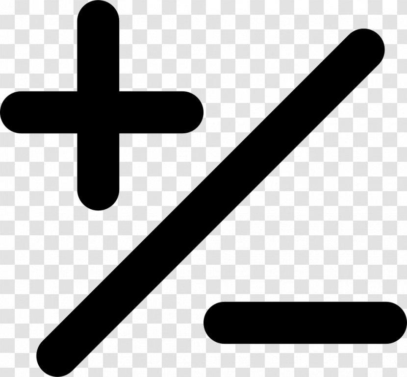 Plus-minus Sign Plus And Minus Signs Meno Symbol Mathematics - Slash Transparent PNG