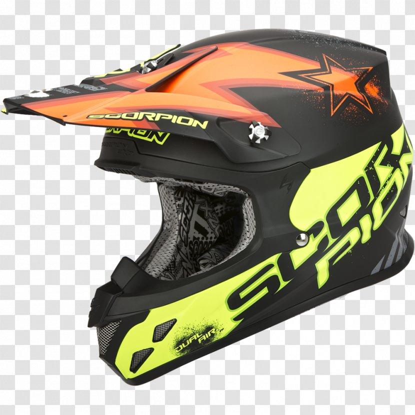 Motorcycle Helmets VX-20 Yellow - Scorpion Transparent PNG