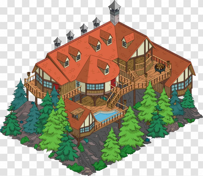 The Simpsons Tapped Out Mr Burns Building House Marge Simpson Mountain Cabin Simpsons Movie Transparent Png