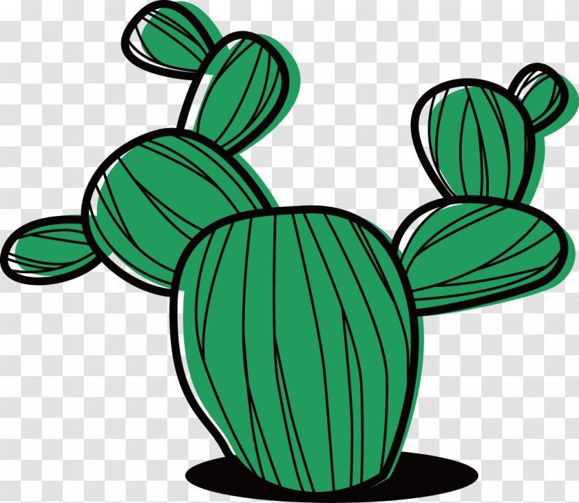 Cactaceae Succulent Plant Cartoon Clip Art Vector Painted Cactus Transparent Png