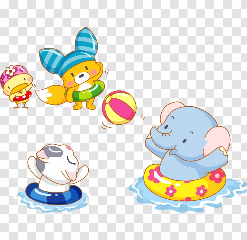 Elephant Cartoon Cuteness Artwork Hand Painted Vector Cute Baby Playing With A Ball Swimming Transparent Png Elephant png illustrations & vectors. hand painted vector cute baby playing
