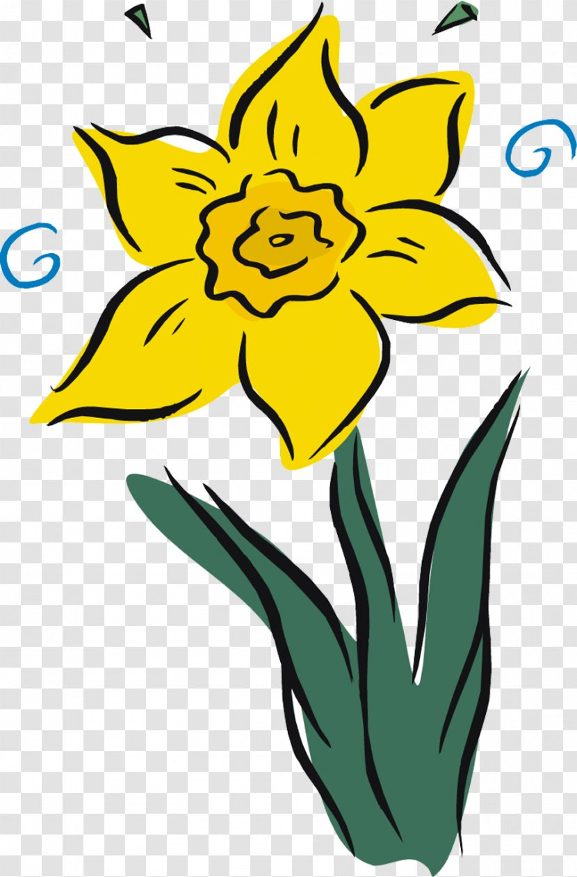 Daffodil Royalty-free Clip Art - Yellow - Creative Daffodils Transparent PNG